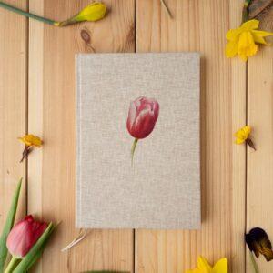 Notes w twardej oprawie – tulipan