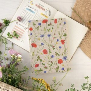 Notes A5- łąka pełna kwiatów