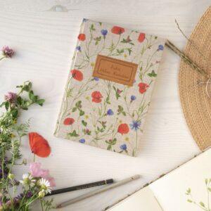 Notes A5 z personalizacją- łąka pełna kwiatów