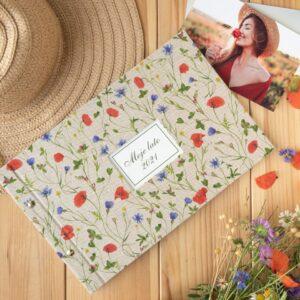 Łąka pełna kwiatów-album śrubowany z okienkiem